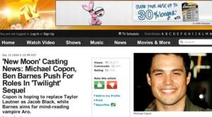 MTV.COM article mentions Michael Copon
